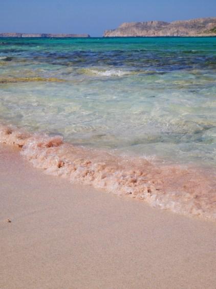 Roze zand bij balos beach kreta