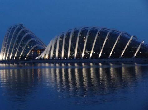 Singapore by night architectuur