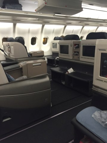 Stoelen in Business Class Turkish Airlines