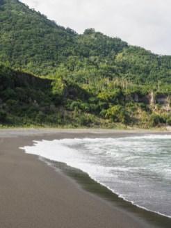 Taiwan stranden bij Donghe