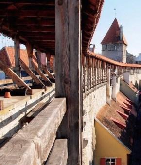 Tallinn Oudestadsmuur Estland