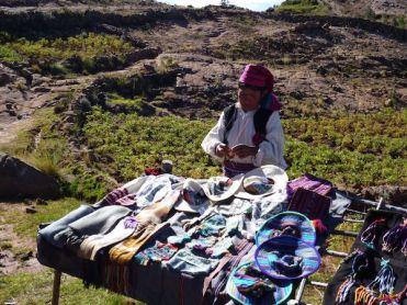 Taquile eiland peru titicaca meer