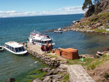 Taquile eiland titicaca meer peru