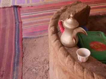 Thee drinken Bedoeïenen tent wadi rum