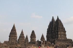 Uitzicht Prambanan java hoogtepunt