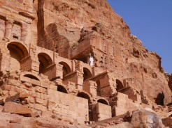 Uitzicht over Petra