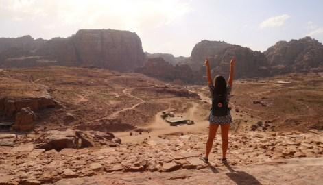 Uitzicht over wereldwonder jordanie