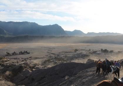 Vanaf mount bromo vulkaan java uitzicht