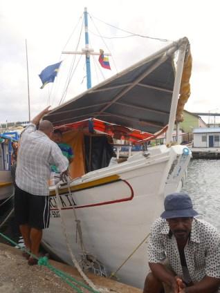 Venezuela floating market in curacao willemstad