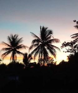 Zonsondergang bij filipijnen