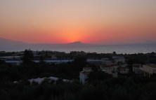 Zonsondergang op Kreta