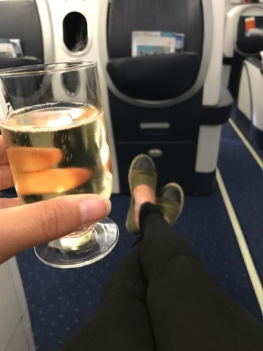 air seychelles business class champagne