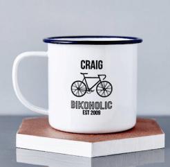 emaille kop fietsliefhebber