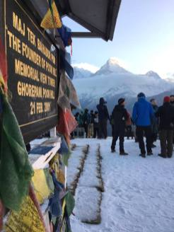 himalaya trekking sneeuwval