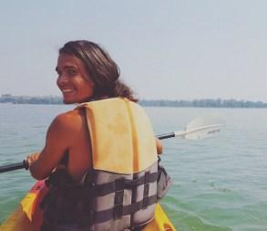 kanoe backpacken in azie timo