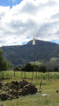 lesotho berg landschap