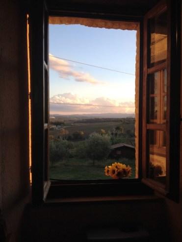 raam uitzicht italie backpackreis