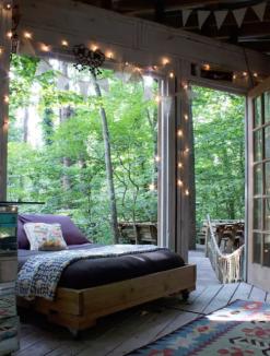 slaapkamer Boomhut slapen airbnb