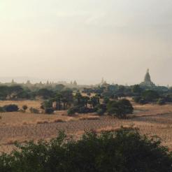 tempels bagan myanmar uitzicht