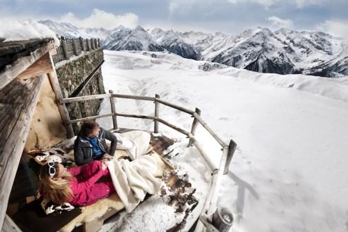 zillertal skigebied skipiste sneeuw