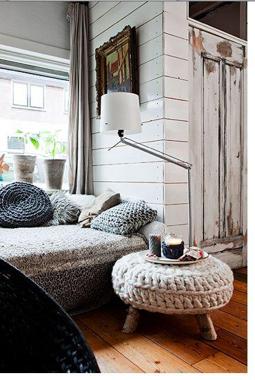 Crochet reading nook