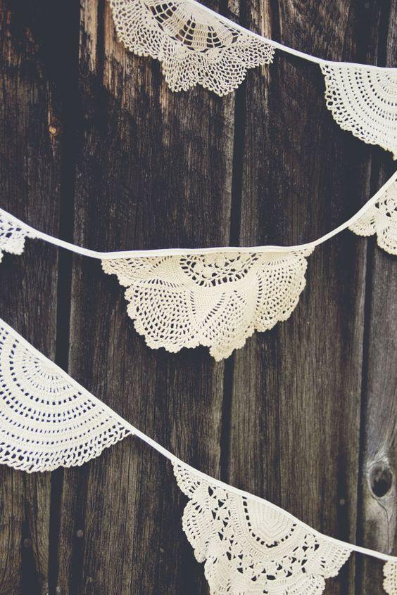 Crochet doily crochet garland