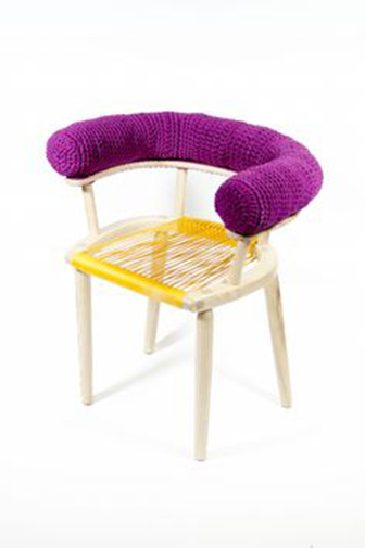 crochet tube chair
