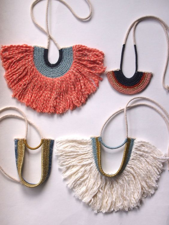 Ouch Flower fringe necklaces