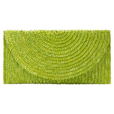 lime green crocheted bag