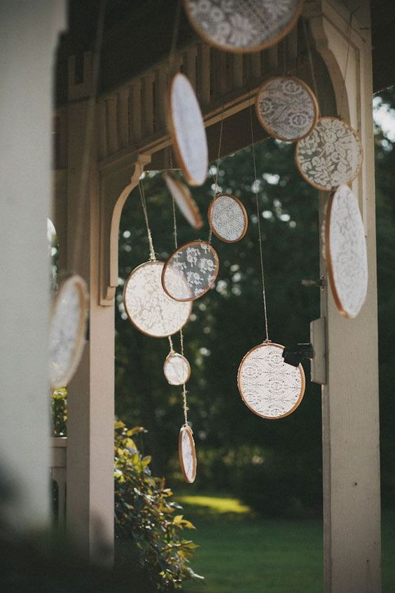 crochet wedding deco