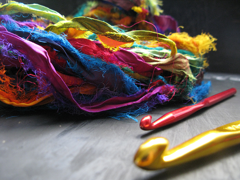 multicolour silk yarn