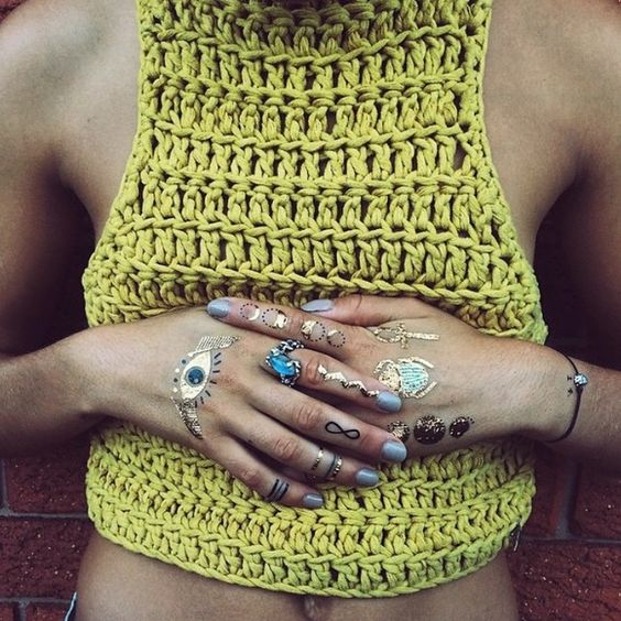 lime green crochet top