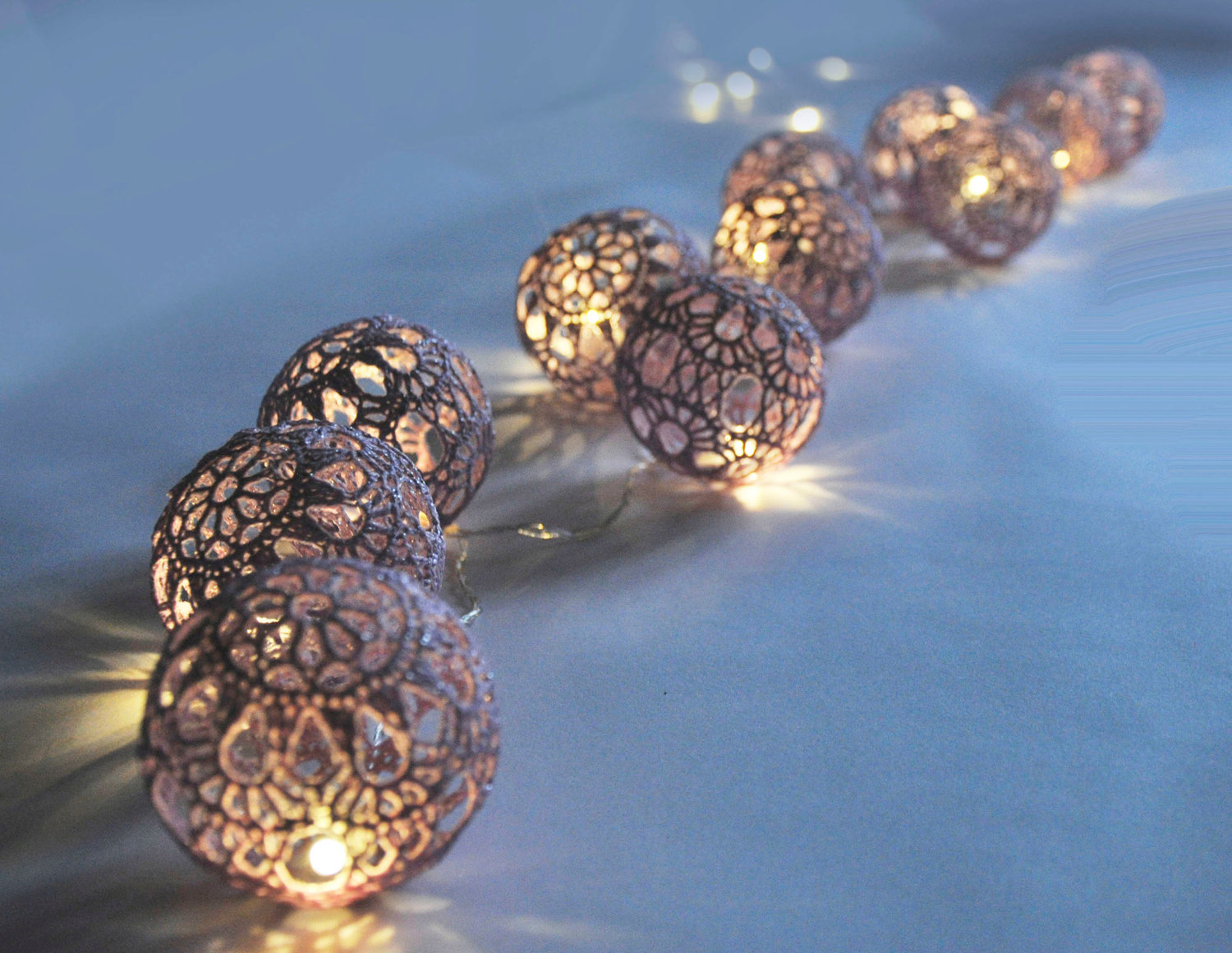 crochet garland lights