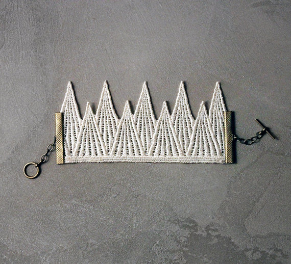 white owl geometric lace bracelet