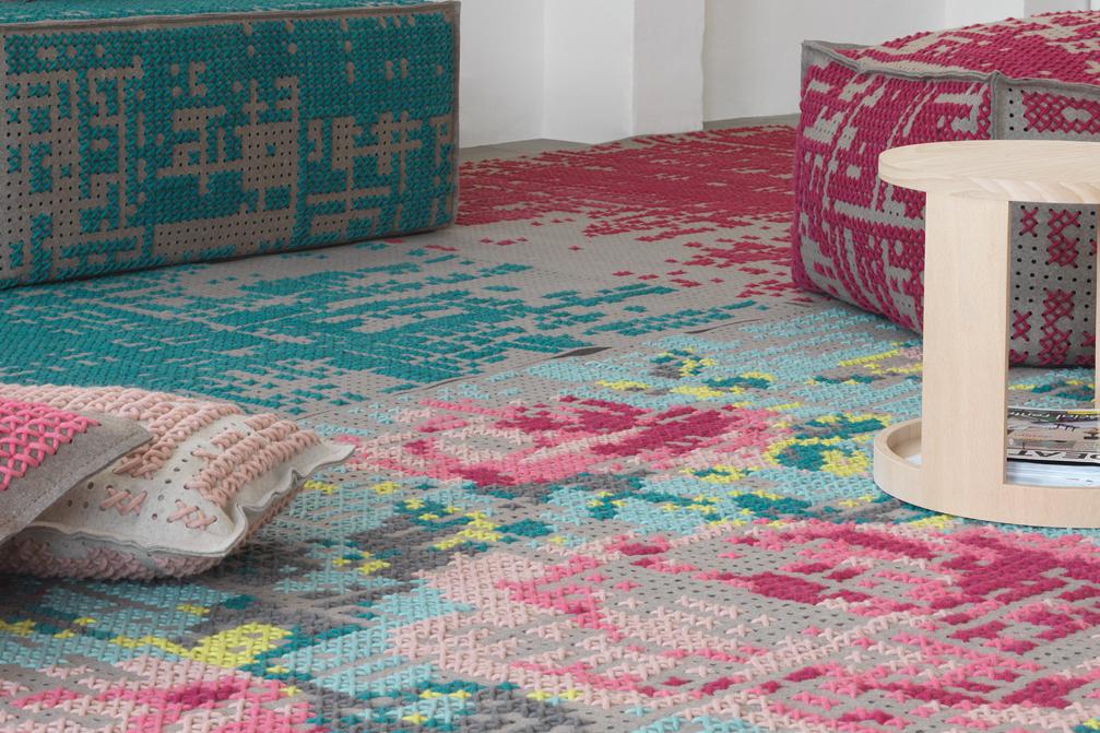 Gan rugs-canevas collection roses 02
