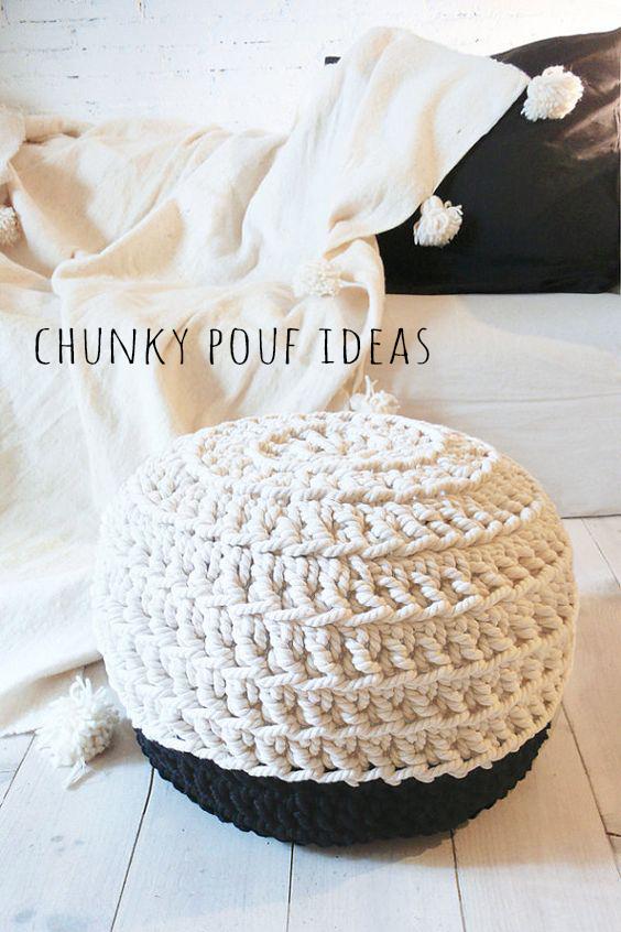 chunky pouf ideas