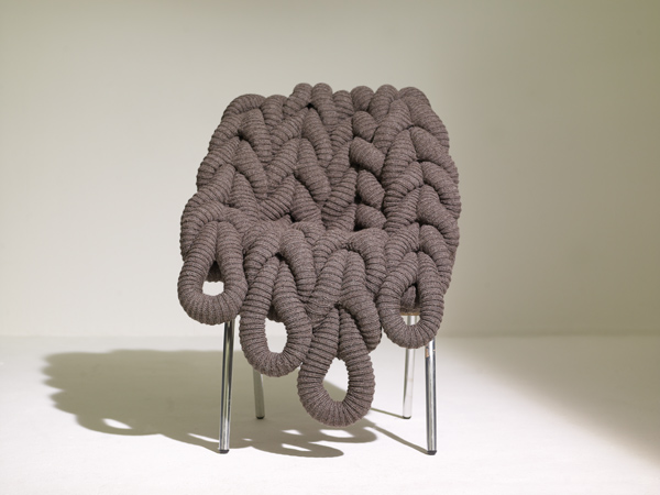 Claire-Anne O'Brien knitted chair