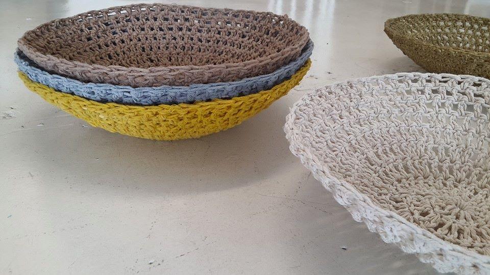 Moon basket design chunky bowls