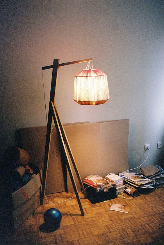 Ana Kras standing lamp in the studio
