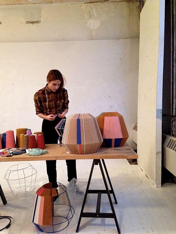 Ana Kras in the studio