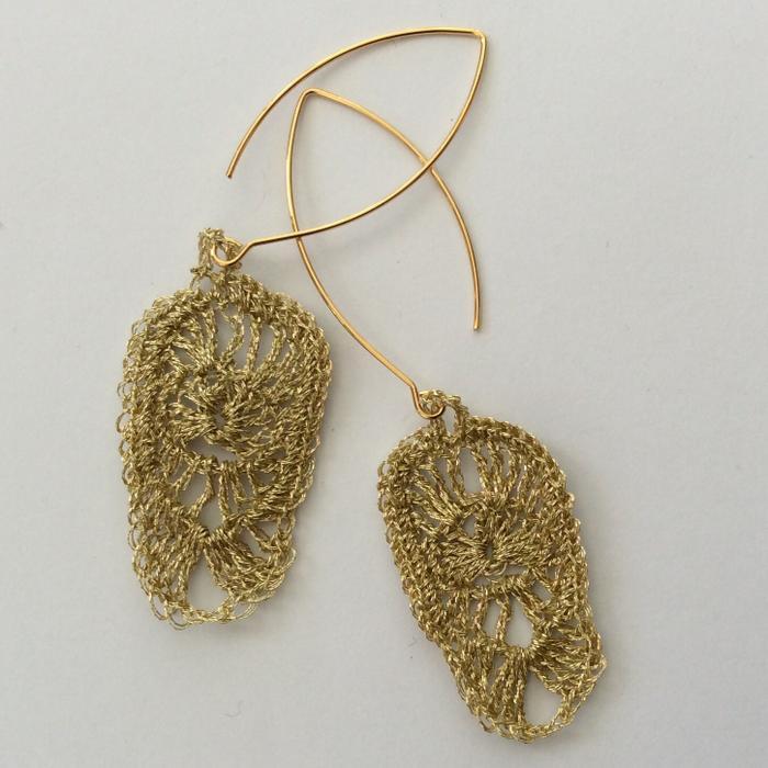 Moonbasket jewellery gold earrings