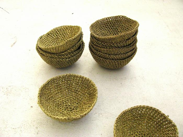 Moon basket design chunky bowls yellow 02