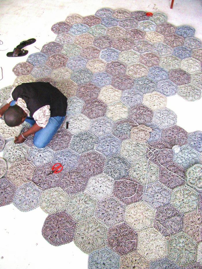 Moonbasket design rug hexagon colour