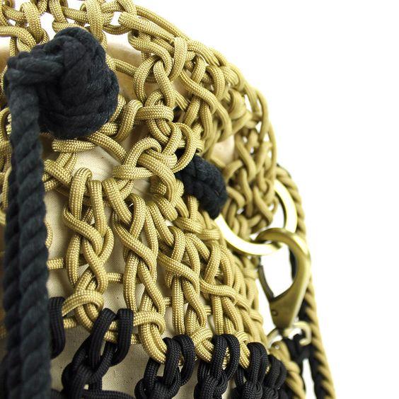 Knots & Knits rope handbag detail