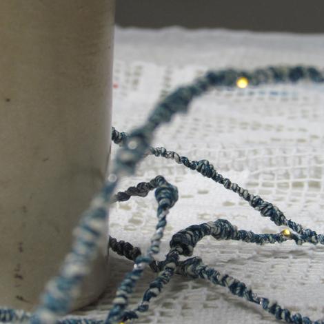 Melanie Porter hand spun string lighting