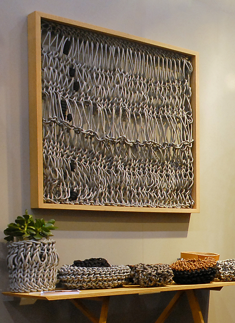 thread architecture rope wall hanging