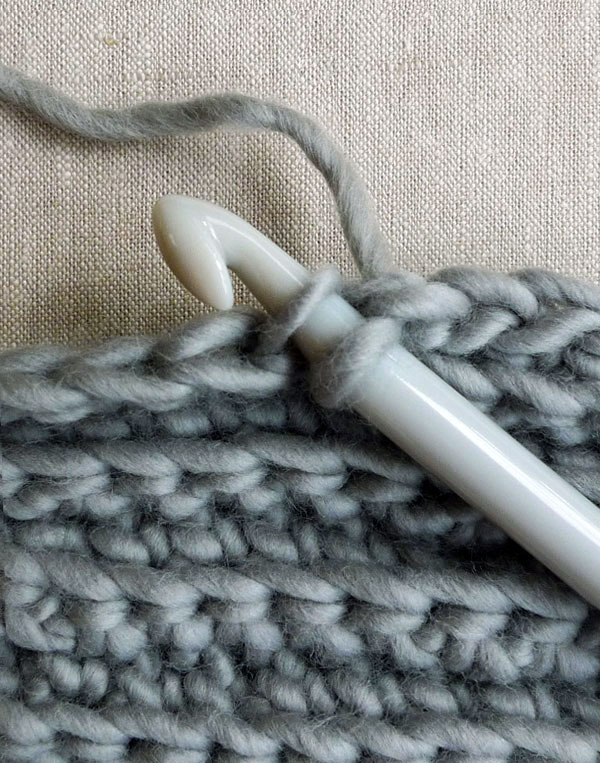 purlsoho crocheted rib cowl on the making