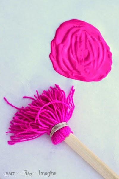 giant yarn painting brushe