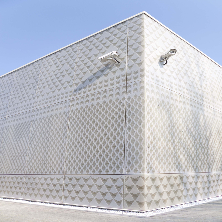 Knitted cladding facade Petra Vonk