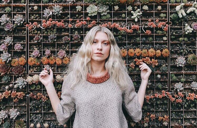 Zelma Rose necklace model